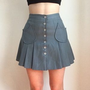 Vintage mini button skirt!!